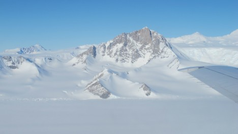A view of the Transantarctic Mountains  during IceBridge's 2013 Antarctic campaign.