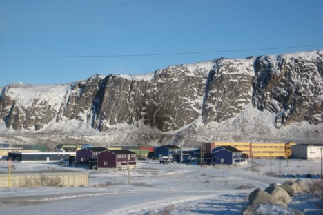 A view of the town of Kangerlussuaq.