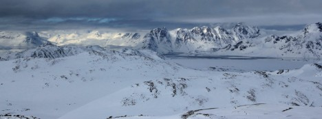 On the other side, views of the fjord and mountains.