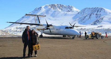 Anatoly and Lora ready to go home via Reykjavik, Iceland.