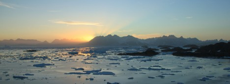 Last sunset in Kulusuk, Greenland before heading back to the U.S.