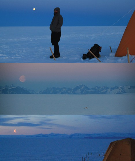 During the 18 days of fieldwork we got the chance to witness great moonrise.