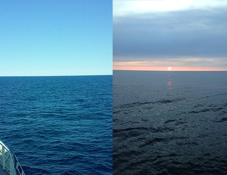 A few of the varying colors of the sea. Photo: Kelsey McBeain and Stuart Halewood