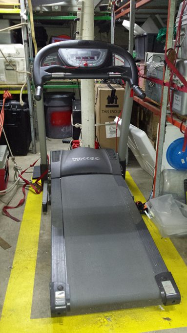 The dreaded treadmill in the science hold.