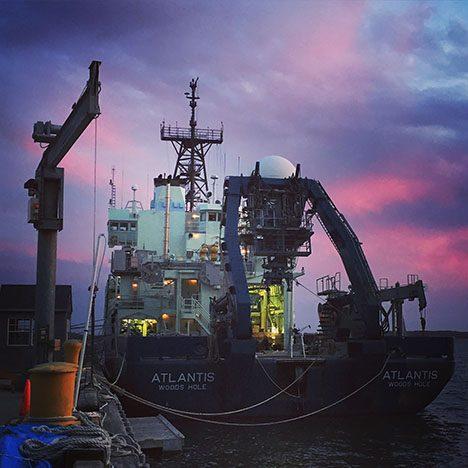 RV Atlantis at sunset