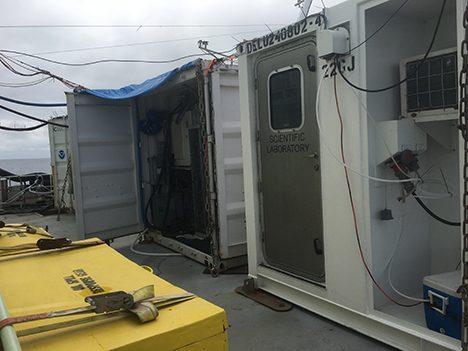 View of the van 'trailer park'