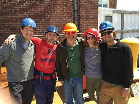 Part of our mobilization team. From left: Clayton Elder, Tom Bell, Cyril McCormick, Mackenzie Grieman, and Jack Porter