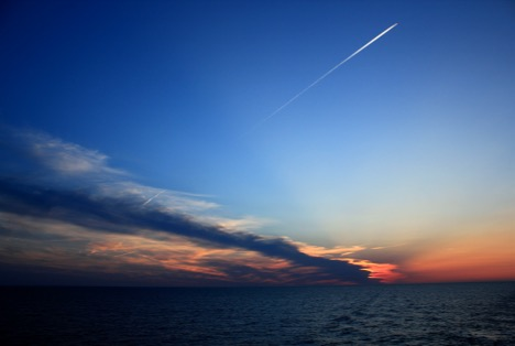 Another beautiful sunset from the aft deck of the RV Atlantis. Photo: Cleo Davie-Martin