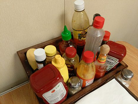 Condiments on board the RV Atlantis.