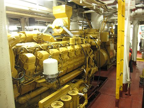 The engines of the RV Atlantis.  Photo: Thomas Bell