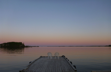 The great sunset the team enjoyed over Lake La Ronge on June 5. (Credit: Dieleman)