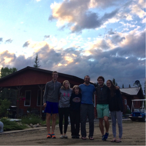 Our team and Rita. From left to right: Kylen Solvik, Liz Wiggins, Rita, Brendan Rogers, Sander Veraverbeke, and Jocelyne Laflamme. Missing: Catherine Dieleman, who had to fly home early for a friend's wedding. (Credit: Solvik)