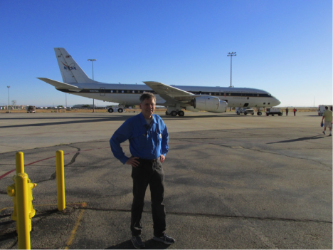 ATom's Principal Investigator Steve Wofsy in front of NASA's DC-8. Credit: Tom Ryerson