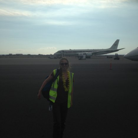 Me having successfully landed in Hawaii with both eardrums in-tact (credit: Maximilian Dollner, University of Vienna).