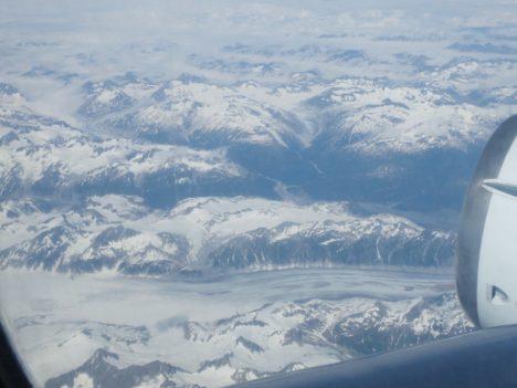 Mountain views leaving Anchorage, Alaska (credit: Christina Williamson).