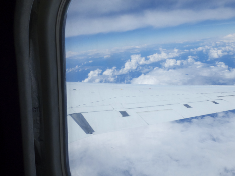 A typical view from the equator flight on the DC8. Credit: Christina Williamson
