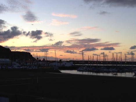 Praia da Vitoria-Santa Cruz, Ihla Terceira, Açores, Portugal, at sunrise. Photo: Steven Wofsy