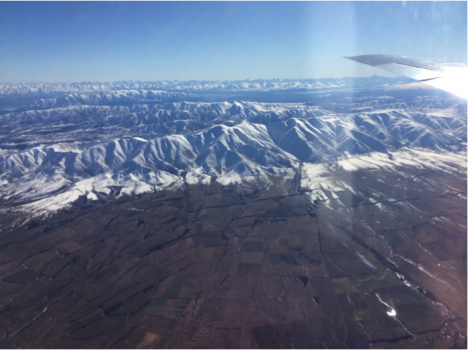 Coastal mountains on the South Island of New Zealand, near Lauder Station, overlooking agricultural lands. Credit: Steven Wofsy, Harvard University