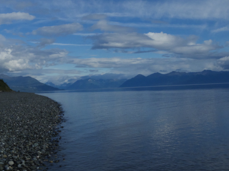 Views during and evening stroll in Anchorage, Alaska (Credit: Christina Williamson).