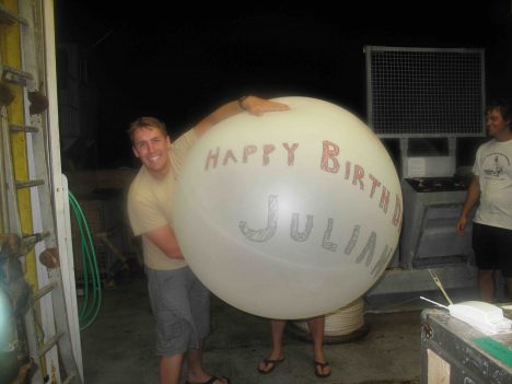 Julian Schanze's birthday balloon.