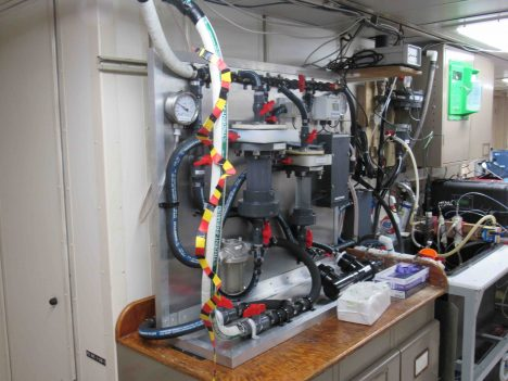 The laboratory end of the Salinity Snake and Carbon Dioxide analysis.