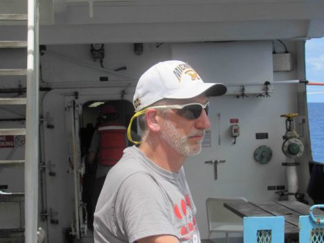 Andy Jessup, Chief Scientist on SPURS-2 R/V Revelle.