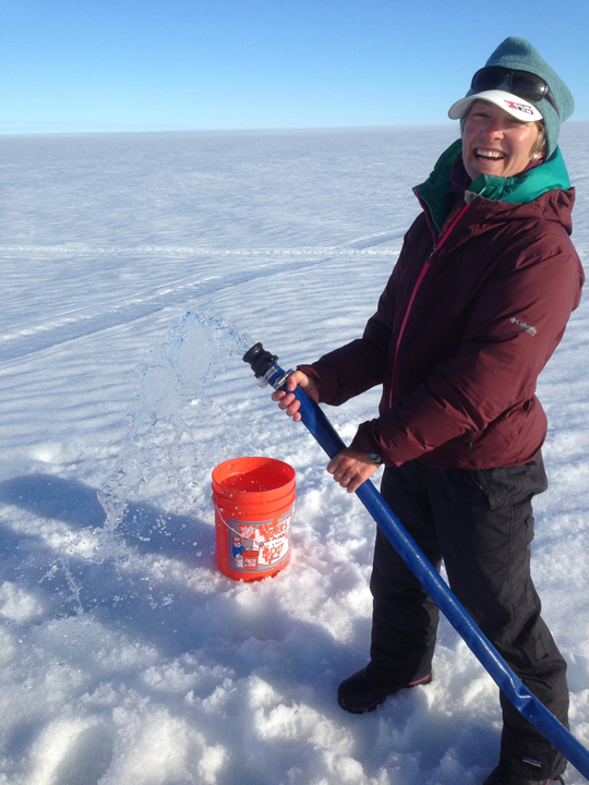 Pumping lots of water out of the ice sheet!