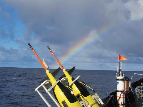 Instruments ready for Lagrangian array deployment at the end of the rainbow.