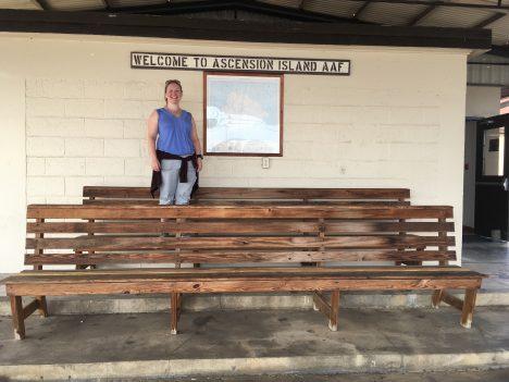 Róisín in Ascension Island.