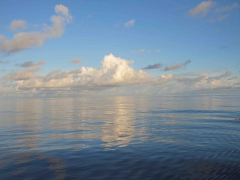 Sea and sky on a very calm day.