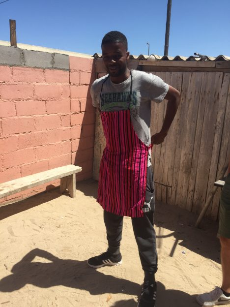 Our talented intern, Ismael, cooking us a traditional Namibian braai. Credit: Mike Tosca