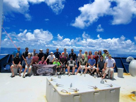 The SPURS-2 science party on the R/V Revelle.